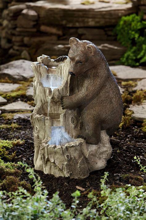 Essential Garden Large Bear Fountain - Outdoor Living ...