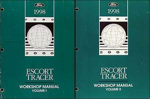 1999 Ford Escort Tracer Service Shop Set 0oem 2 Volume Set And The Wiring Diagrams