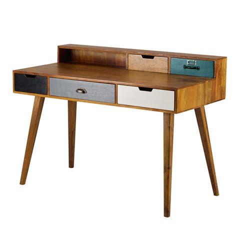 5 Drawer Desk - 5 drawer solid mango wood desk picadilly maisons du monde
