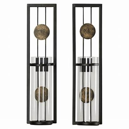 Candle Wall Contemporary Sconce Holder Holders Metal
