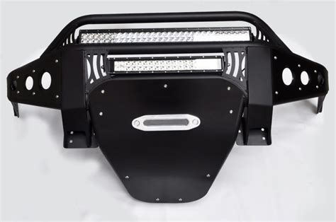 toyota hilux stealth front bumper wwinch mount add offroad