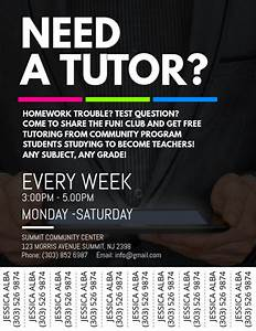 Tutoring Service Flyer Template