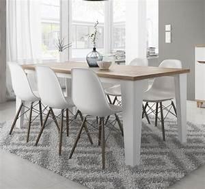 Table à Manger Contemporaine : table de salle manger contemporaine ch ne blanc vein ~ Teatrodelosmanantiales.com Idées de Décoration
