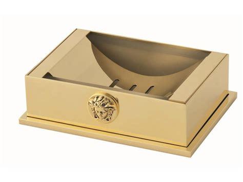 accessori bagno versace portasapone da appoggio collezione unique by versace