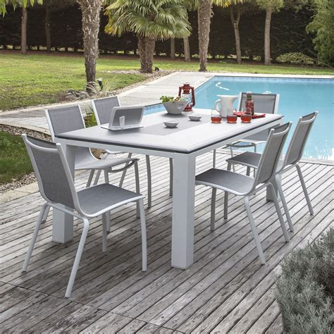 table et 6 chaises awesome table de jardin aluminium et chaise images