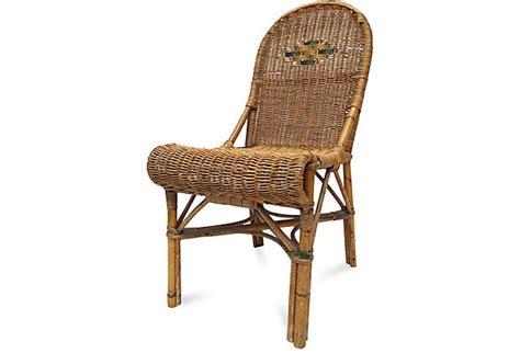 wicker bistro chair vintage rattan