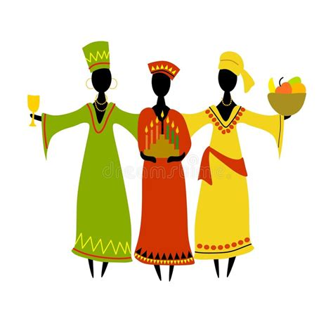 Culture Clipart Cultural Kwanzaa Celebration Isolated Stock Illustration