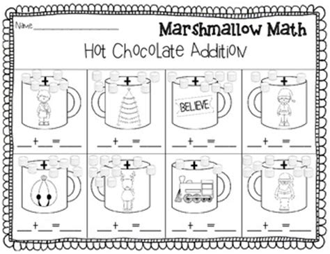 christmas addition  subtraction marshmallow math