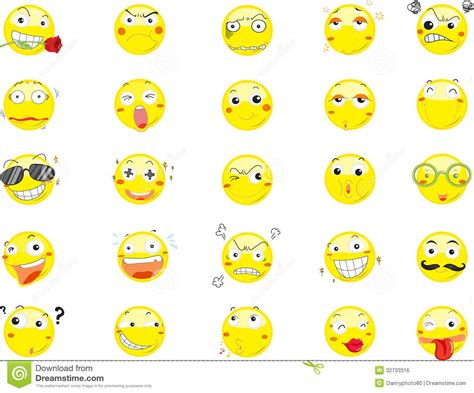 smile face icons stock vector image  thinking ball