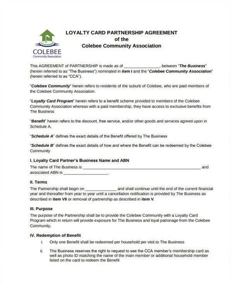 partnership investment agreement templates  word