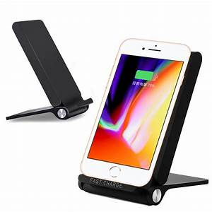 Iphone Wireless Charger : qi wireless fast charger folding charging holder stand for ~ Jslefanu.com Haus und Dekorationen