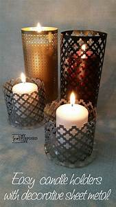 easy sheet metal candle lantern my repurposed lifetm With what kind of paint to use on kitchen cabinets for candle lantern holders