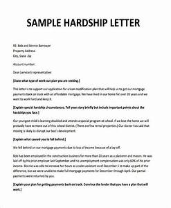 Hardship letter for loan modification due to separation for Free sample hardship letter for loan modification