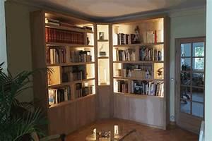 Bibliothque D39angle Contemporaine Avec Clairage