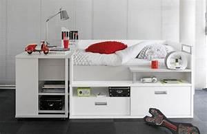 Lit Une Place Avec Rangement : lit avec rangement et bureau ~ Teatrodelosmanantiales.com Idées de Décoration
