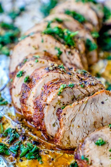 Sheet pan roasted pork tenderloin. The Best Baked Garlic Pork Tenderloin Recipe Ever