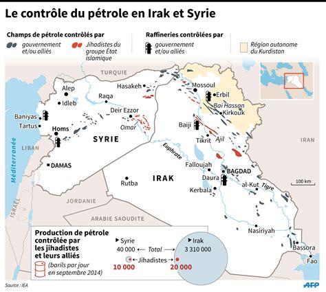 syrie irak carte
