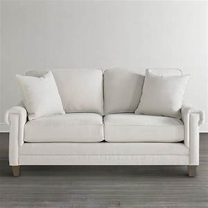 off white custom upholstered studio sofa With off white sofa bed