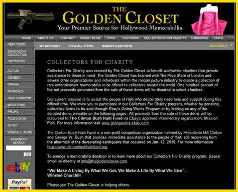 Golden Closet by Golden Closet Holds Collectors For Charity Auction To
