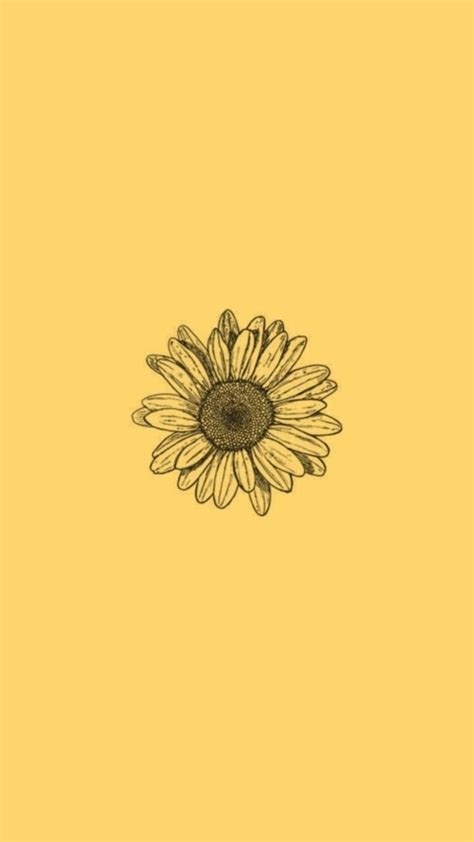 Aesthetic Yellow Flowers Wallpaper Iphone by Aesthetic Wallpaper Sunflower Idek In 2019 Iphone