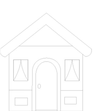 Ausmalbild Haus  Babyzeichensprache Babygebärden