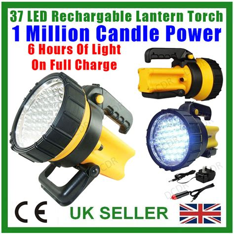 1 million candle light 37 led rechargeable lantern spotlight torch 1 million