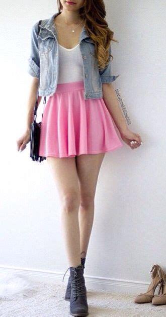 Best 25 Pink Skater Skirt Ideas On Pinterest Girls