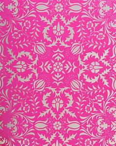 Dauphine Hot Pink Damask Wallpaper Little Crown Interiors