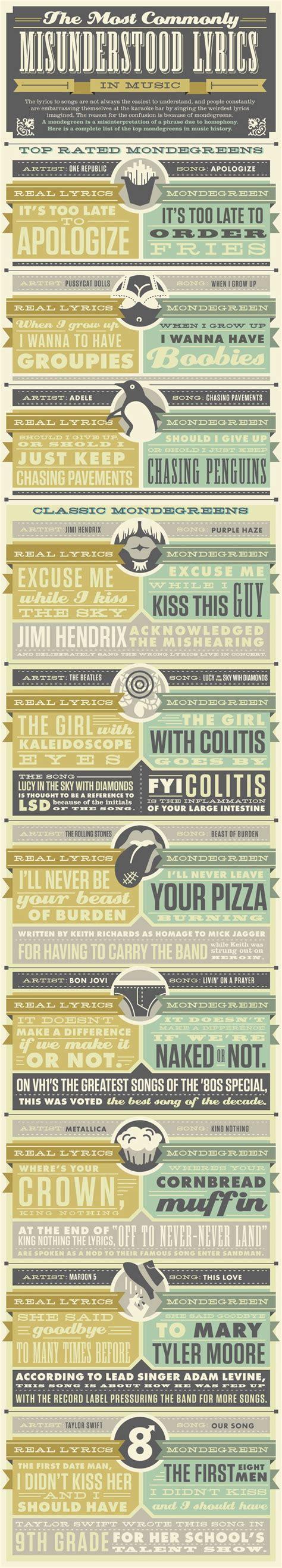 commonly misunderstood lyrics
