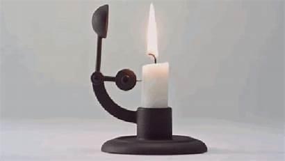 Candle Ingenious Holder Extinguishes Automatically Iron Simple