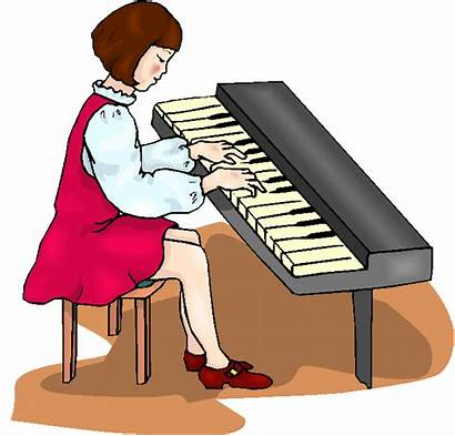 Piano Play Clipart Playing Keyboard Clip Pianist