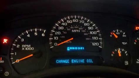 como restaurar mensaje change oil  cambio de aceite