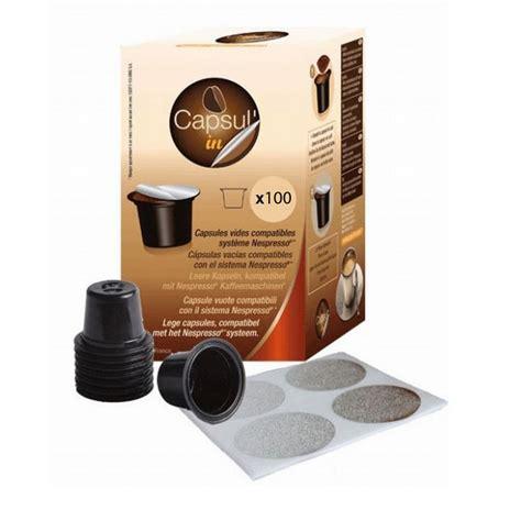 pack bureau nespresso pack 100 cápsulas recargables cafeteras nespresso