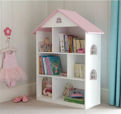 Dollhouse Bookcase by Liberty House Toys White Dollhouse Bookcase With Pink