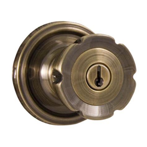 exterior door knobs weslock traditionale antique brass keyed entry eleganti