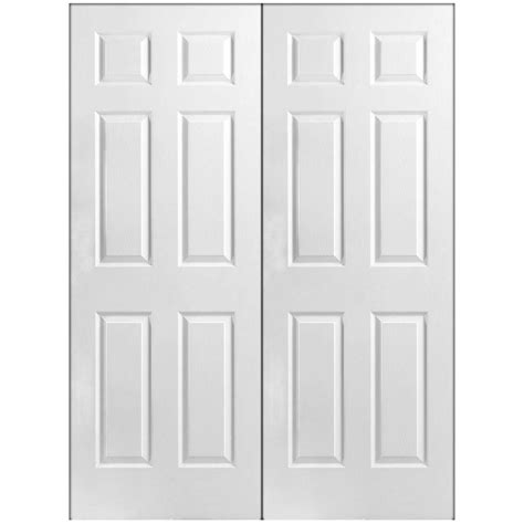 doors interior home depot masonite 60 in x 80 in 6 panel primed white hollow