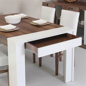 dining table drawer home designs project With table salle a manger extensible 12 couverts pour petite cuisine Équipée