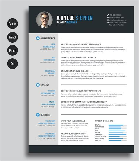 Creative Resume Templates Free Word by 40 Free Printable Resume Templates 2019 To Get A