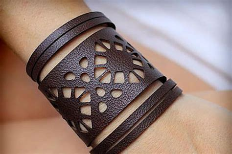 leather bracelets svg vol  bundle cutting templates