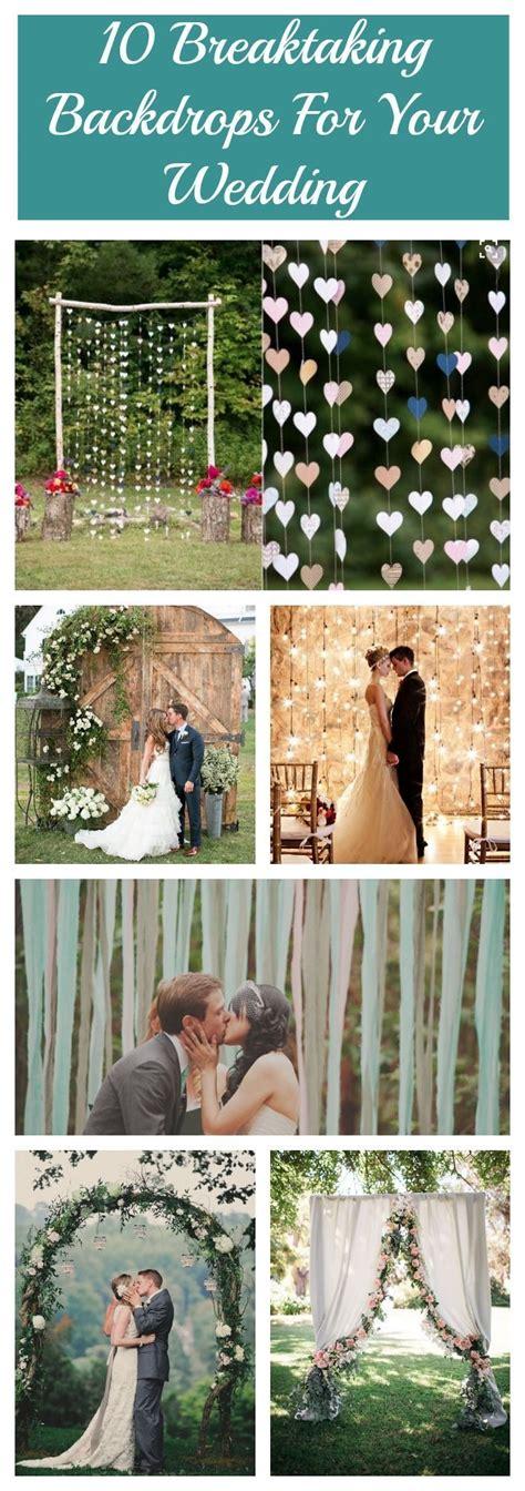 10 Breathtaking Backdrops For Your Wedding Telón de boda