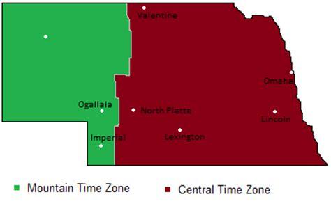 nebraska time zones map timebie