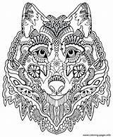 Mandala Coloring Cat Pages Printable Getcolorings sketch template