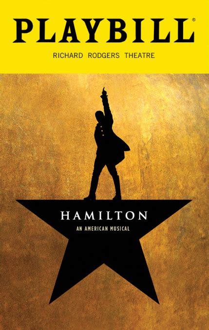 hamilton  musical december  playbill opening
