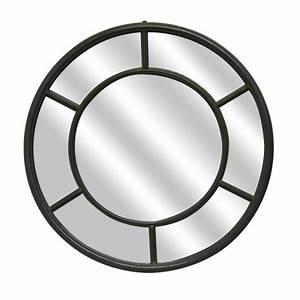 Miroir Metal Noir : miroir fen tre rond en m tal noir ~ Teatrodelosmanantiales.com Idées de Décoration