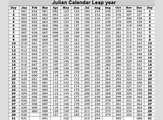 Leap Year Julian Calendar Printable Calendar Template 2018