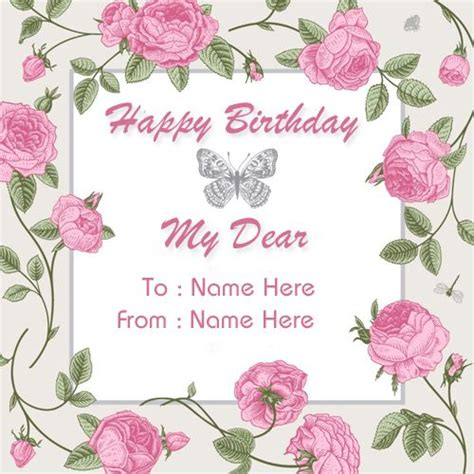 create custom birthday wishes greeting card