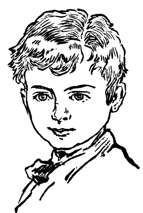 How To Draw A Victorian Boy by Boy Face Clipart Etc