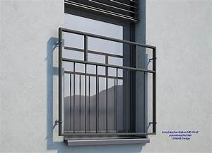 franzosischer balkon md03ap pulverbeschichtet anthrazit With französischer balkon mit gartenzaun metall günstig kaufen