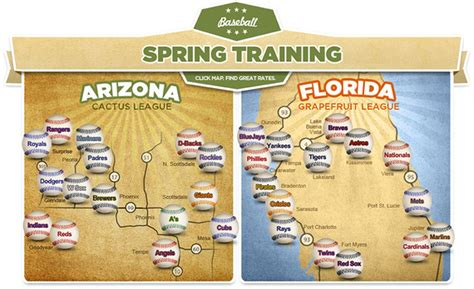 Spring Training Map Florida 2018