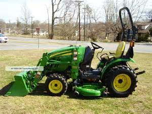 John Deere Tractor with Mower Deck